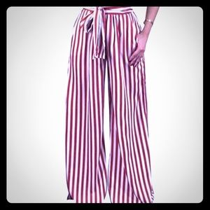 Pants - Trendy red and whit stripes 💕
